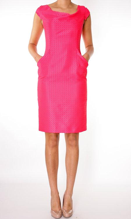 Cha Cha Dress - Raspberry dot print