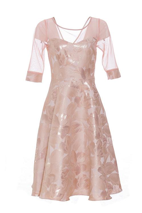 Dahlia Dress - Pale pink floral 8902
