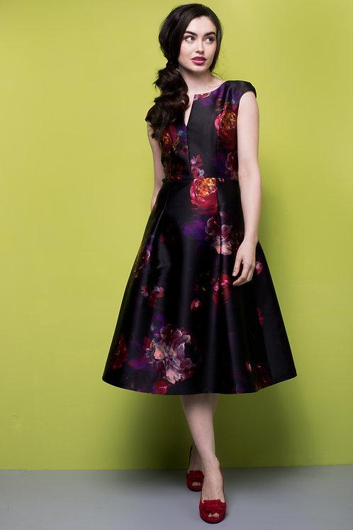 Rana Dress - Black Print 7991