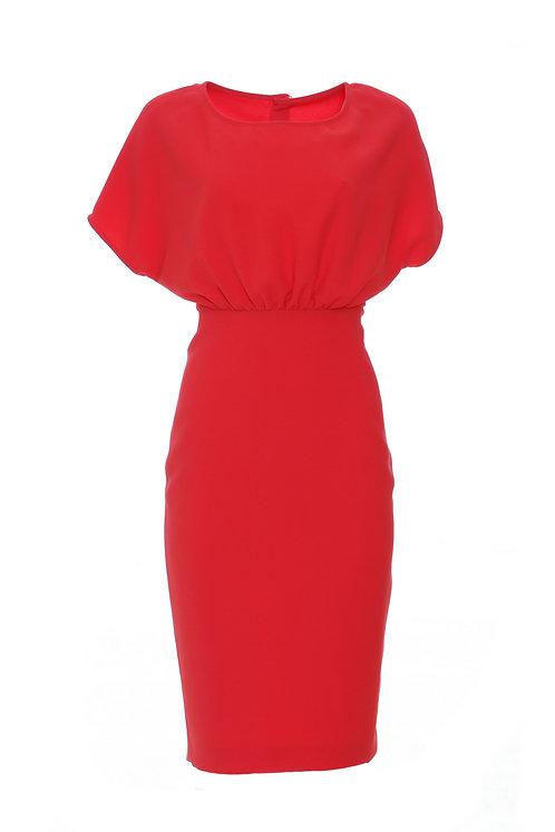 Camelia Dress - Red 8975