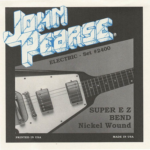 John Pearse Electric Guitar Strings SUPER EZ BEND 2400 (Set of 1)