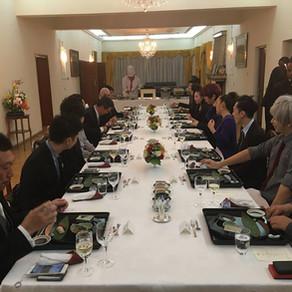 8. Heartfelt Hospitality at the Japanese Ambassador's Residence.