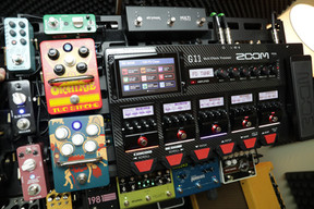 Top tier of the guitar pedal board