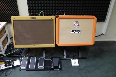 Fender Hot Rod Deluxe and Orange Rocker32 Guitar amps
