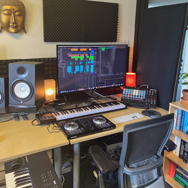 The 'writers corner'. Where you can access and control the production of your work as well as the software avalible to you