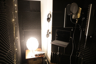 The relaxing vocal booth