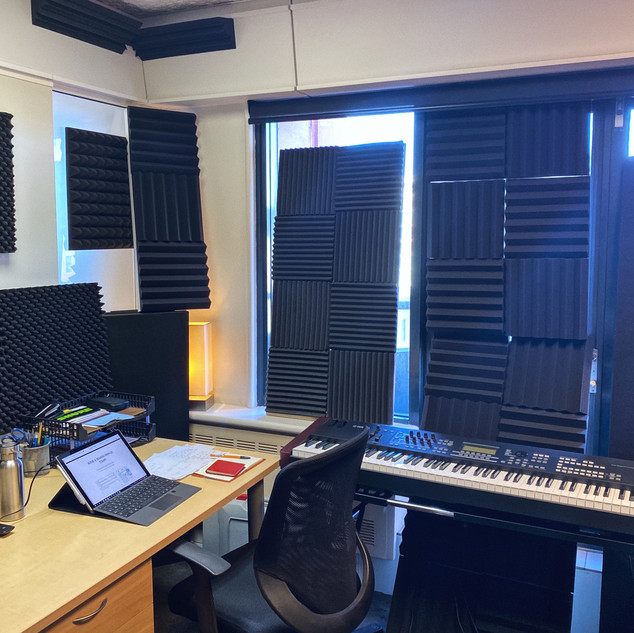Acoustic treatment in control room