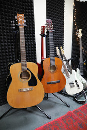 Yamaha steel string acoustic guitar and the classical guitar