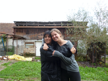 Pia in Rumänien - Begegnung mit Paola