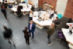 bigstock-Overhead-View-Of-Busy-Modern-O-