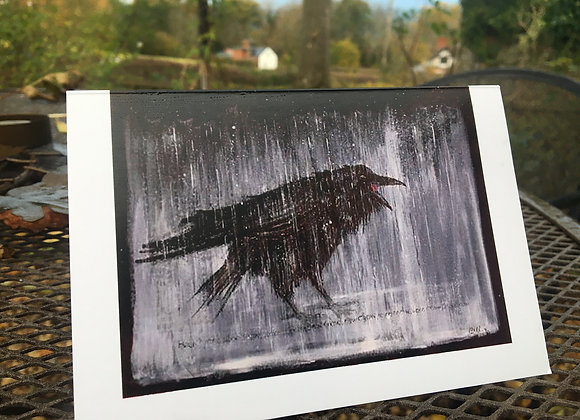 'The Winter Crow' greetings card