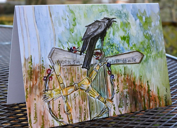 The Crossroads greetings card