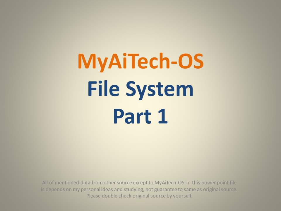 Create your own File System