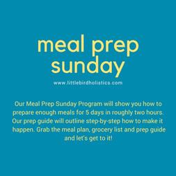 Meal Prep Sunday plan $25 CAD