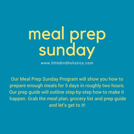 Meal Prep Sunday plan $25 CAD