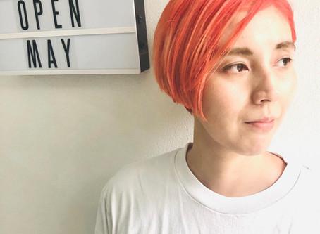 シャーベットオレンジカラー♪( ´θ`)