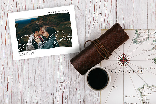 Mountain View - Save the Date Card