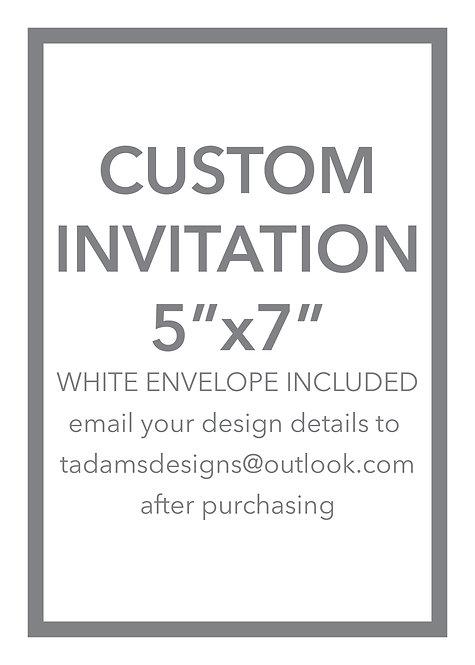Custom Invitation or Detail Card