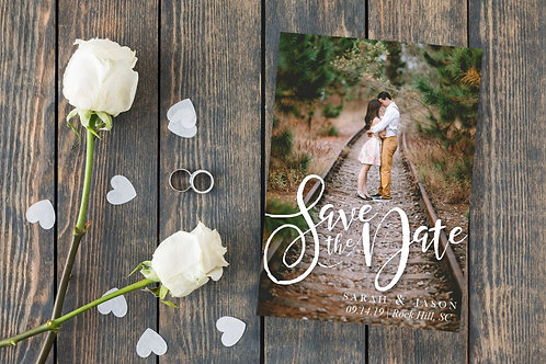 Track to Love - Save the Date Card