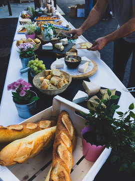 Buffet fromage et dessert