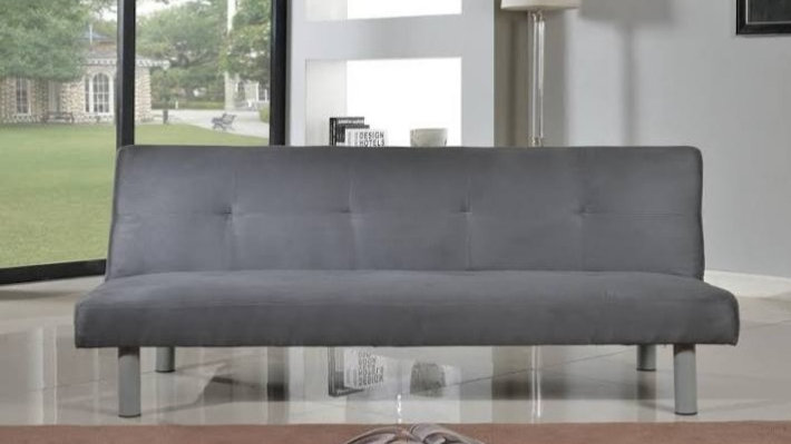 Black and grey sofa bed picture is only example