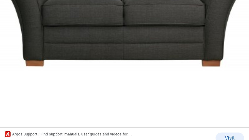 2-seater sofa charcoal tweed