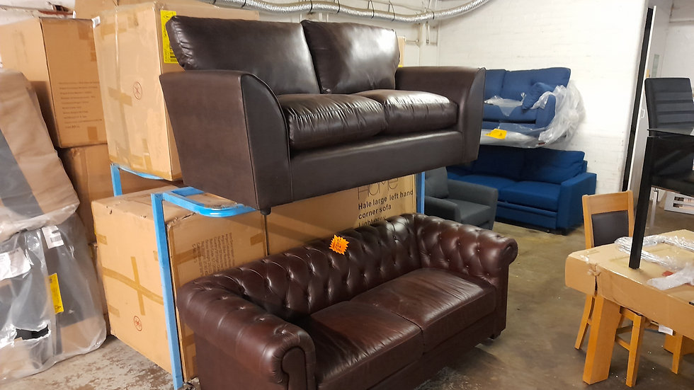 Leather effect 3 seater on top shelf brand new
