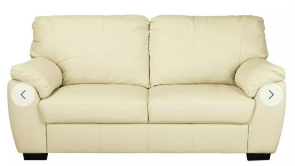 Leather sofa two seater) Two in stock