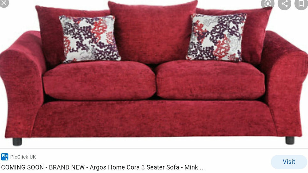 HME NEW CLARA 3 SEATER SOFABED