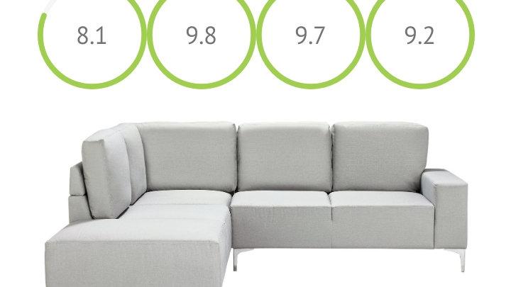 Brand new Hale Left hand corner sofa light grey