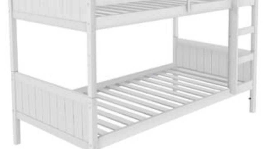 Classic white bunkbed