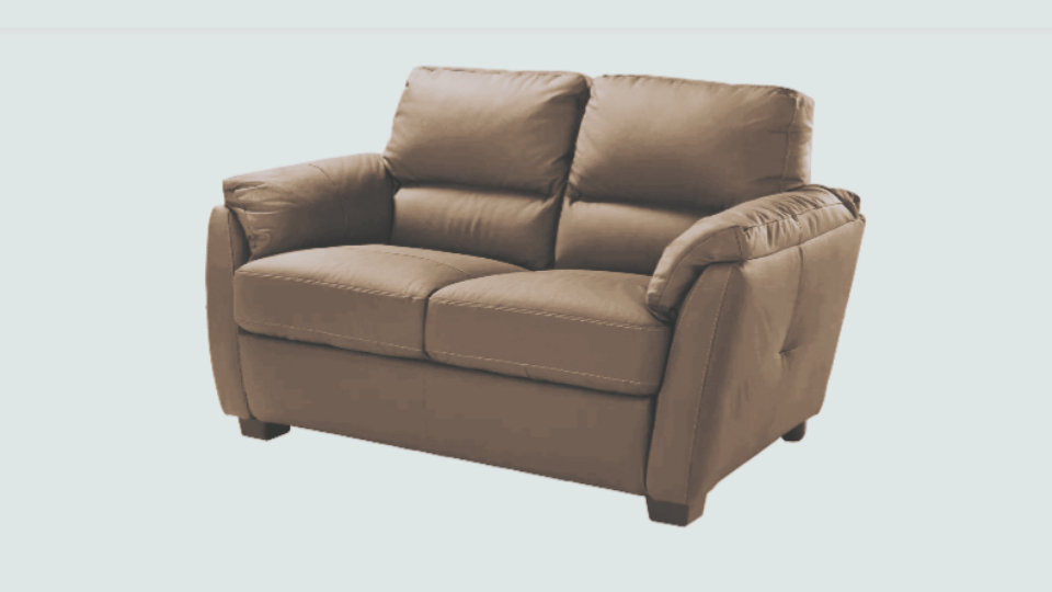 Tc trieste 2 seater leather in taupe