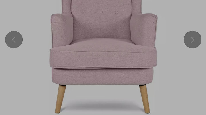 Habitat pink wingback chair