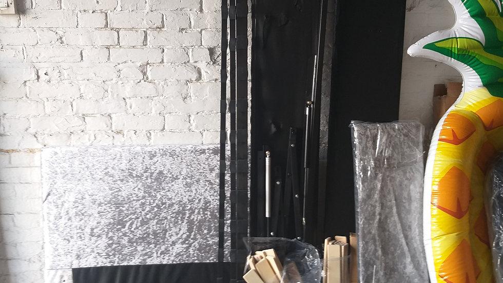 Silver ottoman single bed frame
