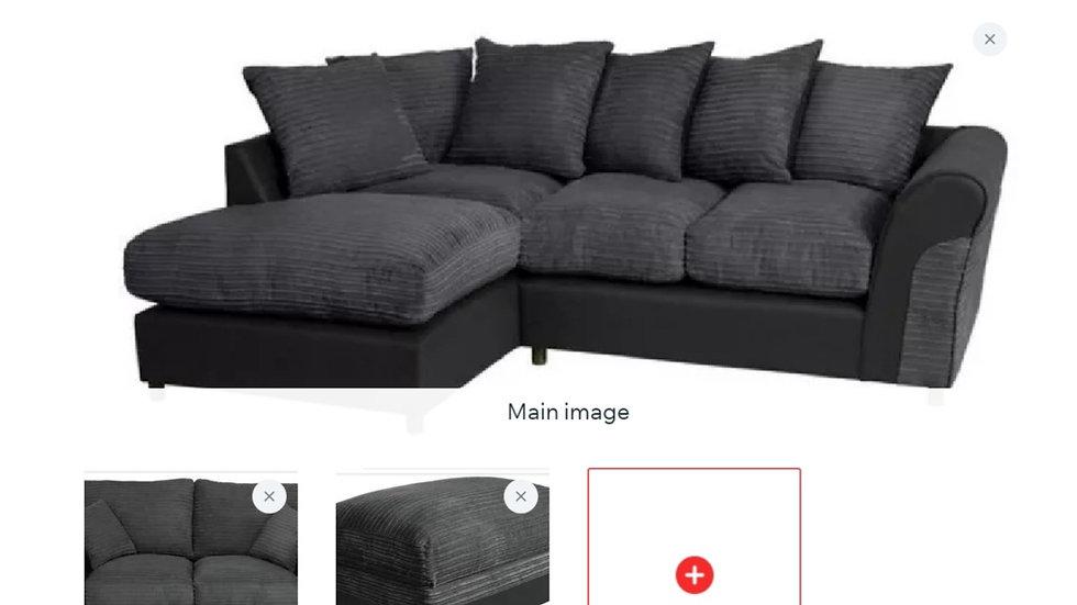 Harry Corner sofa + 2 seater & storage footstool set
