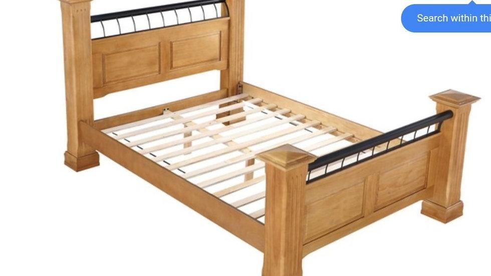 Oak dale king size pine bed