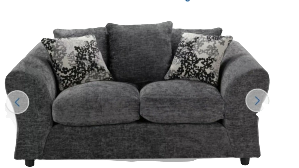 Pair of Clara 2  Seater Set in Charcoal