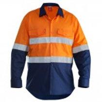 Hard Yakka Cotton Drill Long Sleeve Shirt With Tape