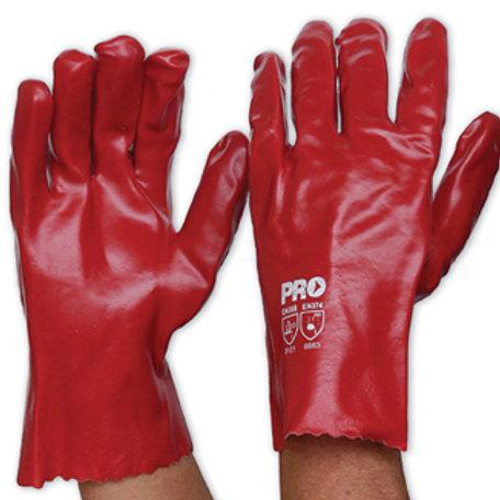 Red PVC Glove - 27cm