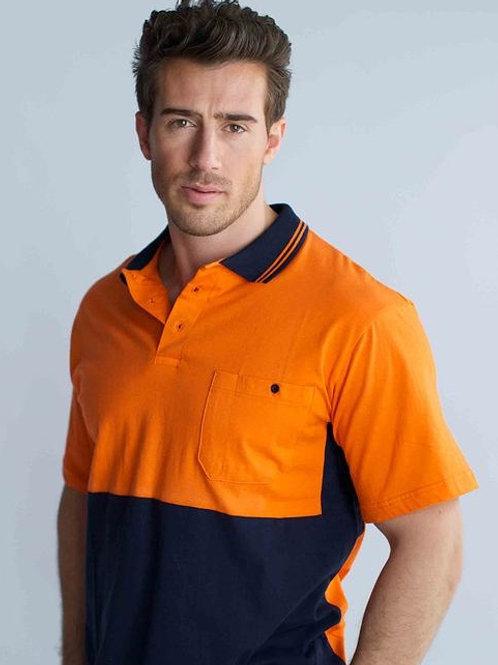 Hi-Vis Cotton Polo Shirt Short Sleeve