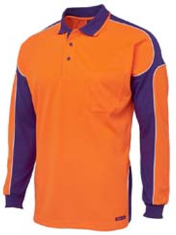 Hi-Vis Arm Panel Long Sleeve Polo
