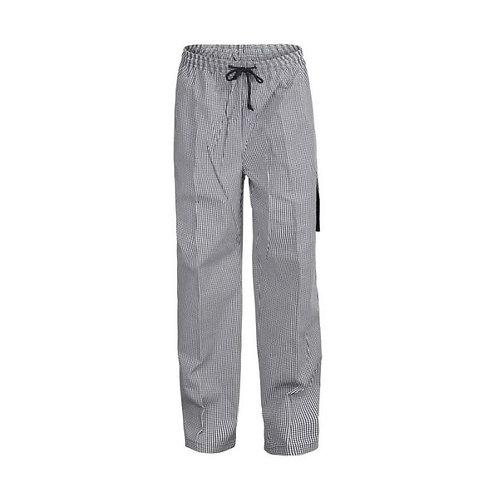 Unisex Chefs Check Drawstring Cargo Pants