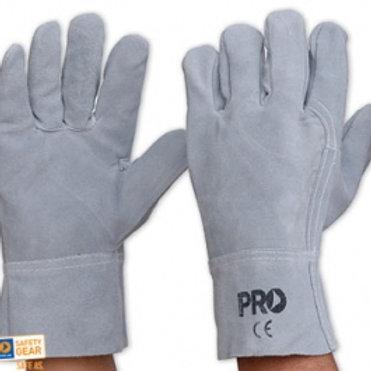Grey Leather Glove