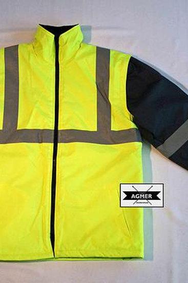 Hi-Vis Storm Jacket With Zip-Off Sleeve