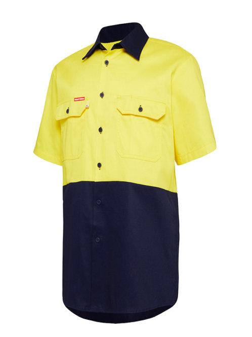 Hi-Vis Cotton Drill Shirt Short Sleeve
