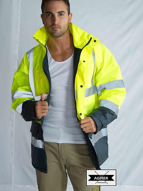 Hi-Vis Poly-Oxford Storm Jacket With Tape