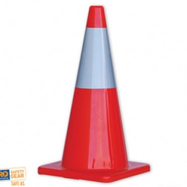 Traffic Cone With Reflective Tape 700mm