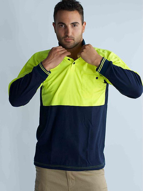 Hi-Vis Poly/Cotton Polo Shirt Long Sleeve