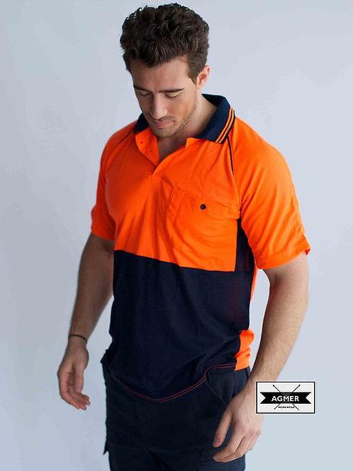 Hi-Vis Poly/Cotton Polo Shirt Short Sleeve