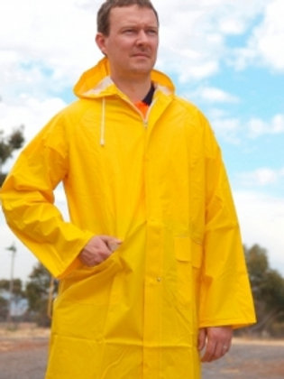 PVC Jacket With Hood 3/4 Length